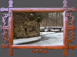 Зима ходьби від річки Віслок Пасовищ до Рудавці Риманівській